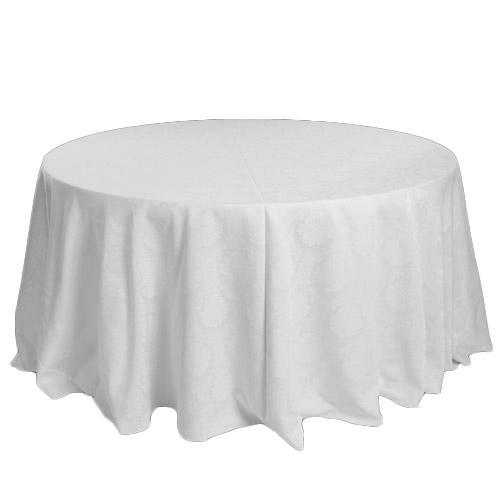 White Wellington Damask Tablecloth Rentals White Wellington Damask Tablecloth Rentals