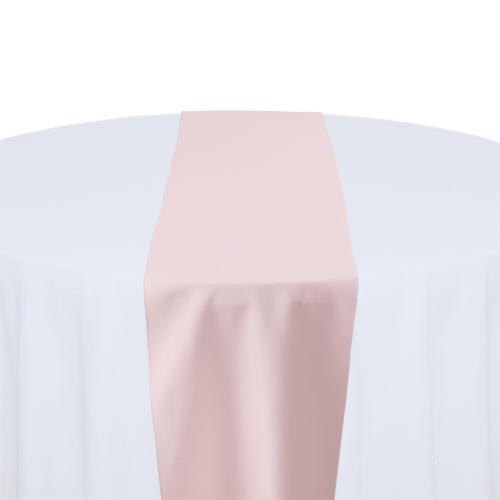 Light Pink Solid Polyester Table Runner Rental Light Pink Solid Polyester Table Runner Rental