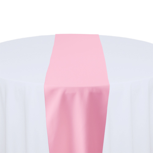 Pink Solid Polyester Table Runner Rental