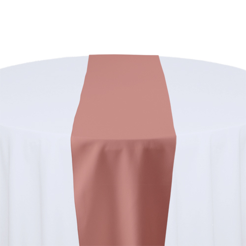 Dusty Rose Solid Polyester Table Runner Rentals Dusty Rose Solid Polyester Table Runner Rentals