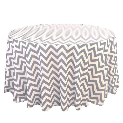 Grey & White Chevron Tablecloth Rentals Grey & White Chevron Tablecloth Rentals