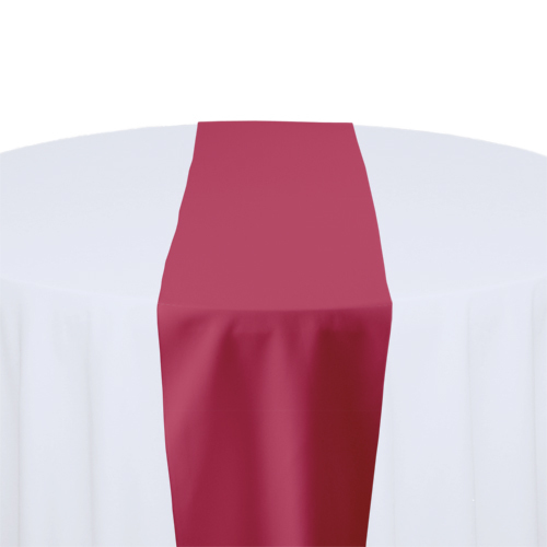 Fuchsia Solid Polyester Table Runner Rental Fuchsia Solid Polyester Table Runner Rental