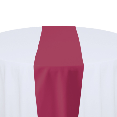Hot Pink Solid Polyester Table Runner Rental