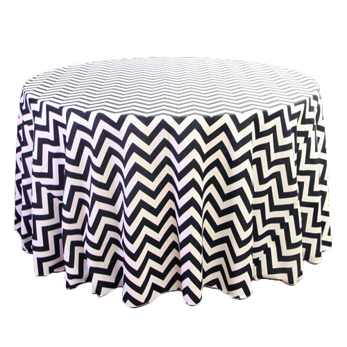 Black & White Chevron Tablecloth Rental Black & White Chevron Tablecloth Rental