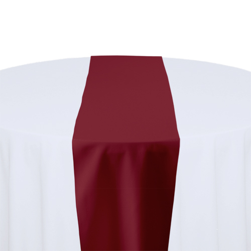 Ruby Solid Polyester Table Runner Rental