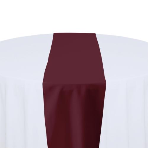 Burgundy Solid Polyester Table Runner Rental Burgundy Solid Polyester Table Runner Rental