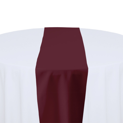 Bon Burgundy Solid Polyester Table Runner Rental
