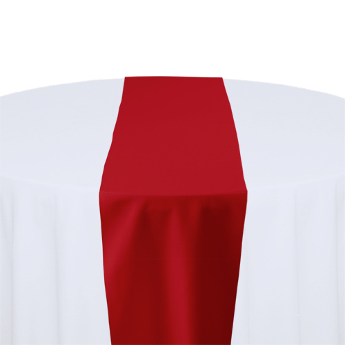 Red Solid Polyester Table Runner Rental
