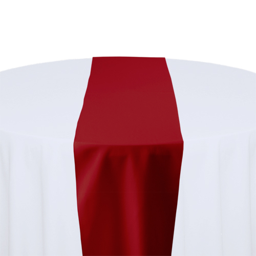 Cherry Red Solid Polyester Table Runner Rental
