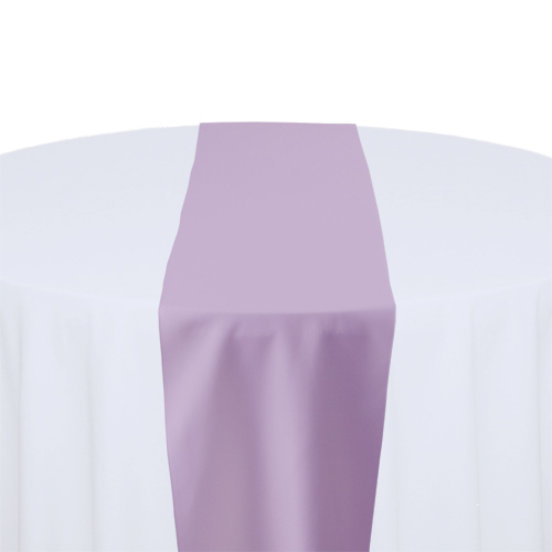 Lilac Solid Polyester Table Runner Rental
