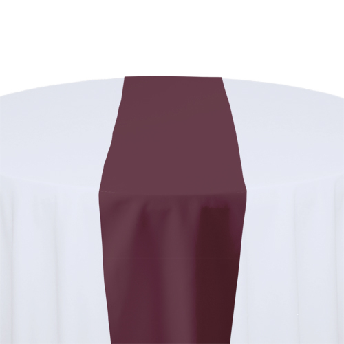 Claret Solid Polyester Table Runner Rental Claret Solid Polyester Table Runner Rental