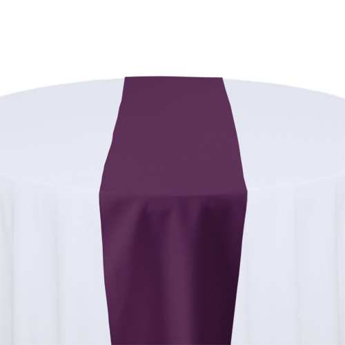 Plum Solid Polyester Table Runner Rental