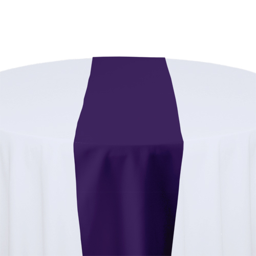 Purple Solid Polyester Table Runner Rental Purple Solid Polyester Table Runner Rental