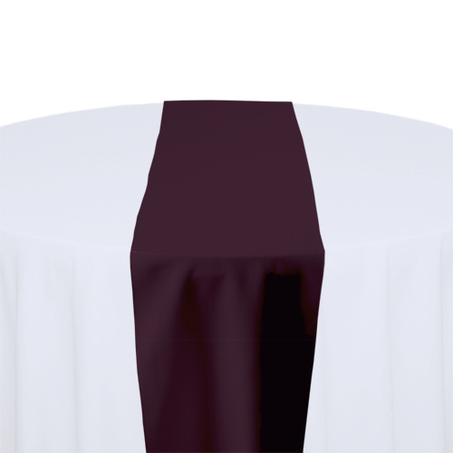 Eggplant Solid Polyester Table Runner Rental Eggplant Solid Polyester Table Runner Rental