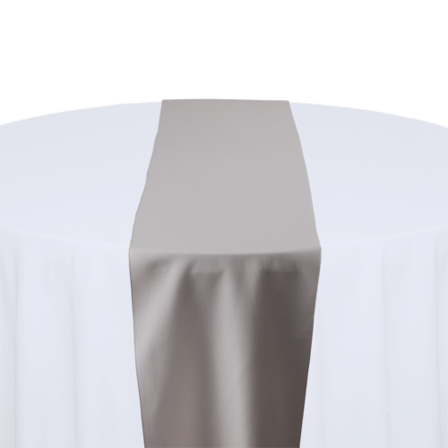 Grey Solid Polyester Table Runner Rental Grey Solid Polyester Table Runner Rental