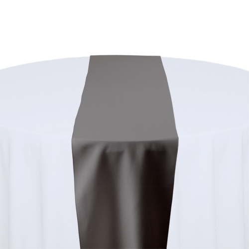 Charcoal Solid Polyester Table Runner Rental Charcoal Solid Polyester Table Runner Rental