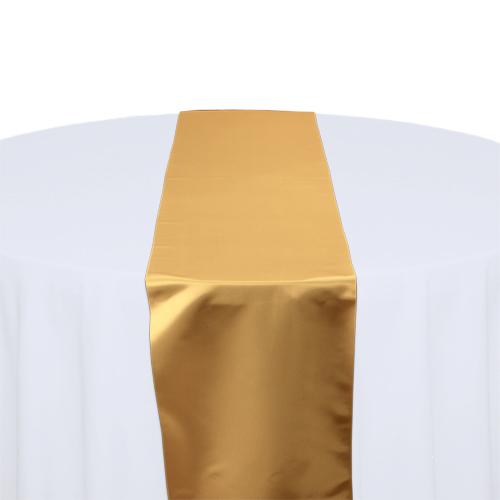 Gold Satin Table Runner Rental Gold Polyester Satin Table Runner Rental