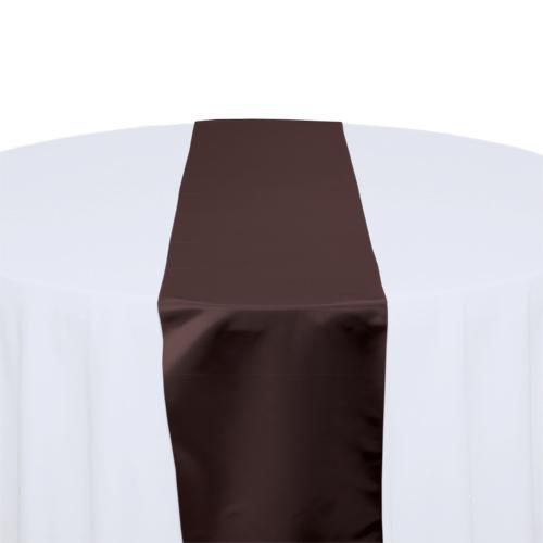 Brown Satin Table Runner Rental Brown Polyester Satin Table Runner Rental