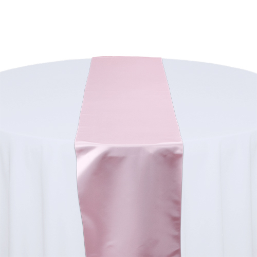 Pink Satin Table Runner Rental Pink Polyester Satin Table Runner Rental