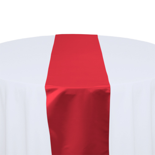 Red Satin Table Runner Rental Red Polyester Satin Table Runner Rental