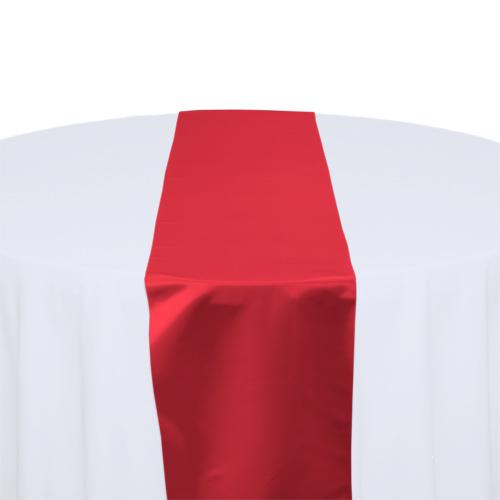 Red Satin Table Runner Rental