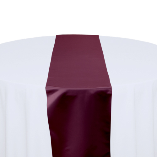 Burgundy Satin Table Runner Rental Burgundy Polyester Satin Table Runner Rental
