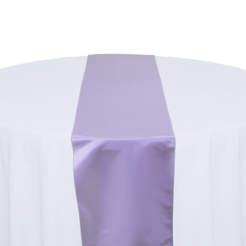 Lilac Satin Table Runner Rental Lilac Polyester Satin Table Runner Rental