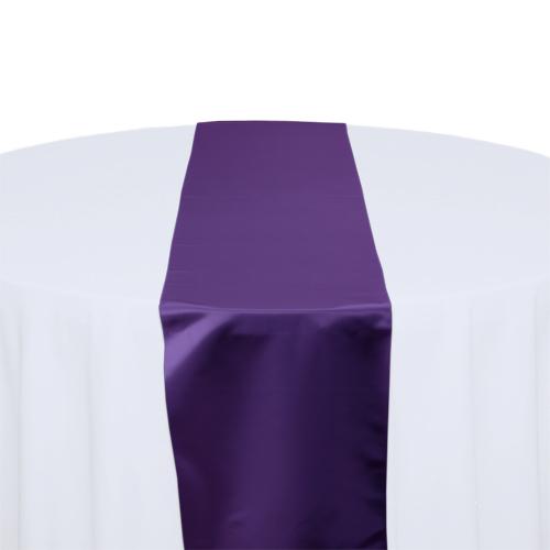 Purple Polyester Satin Table Runner Rental