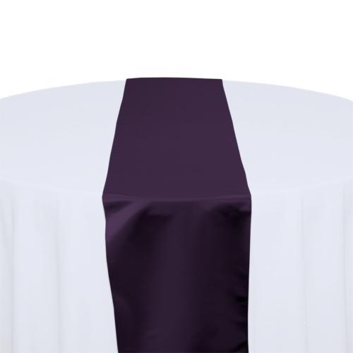 Plum Satin Table Runner Rental Plum Polyester Satin Table Runner Rental