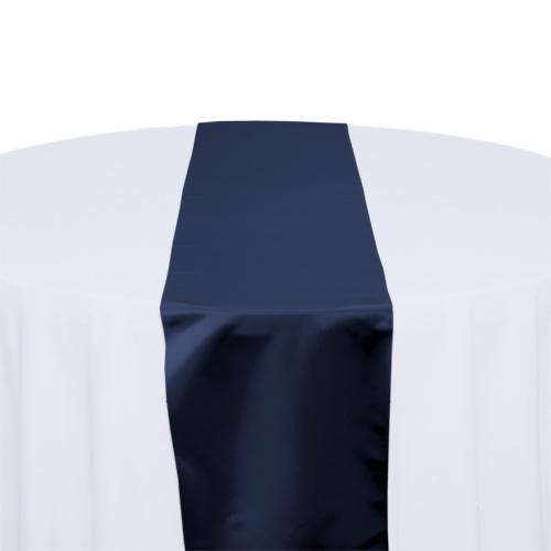 Navy Satin Table Runner Rental Navy Polyester Satin Table Runner Rental