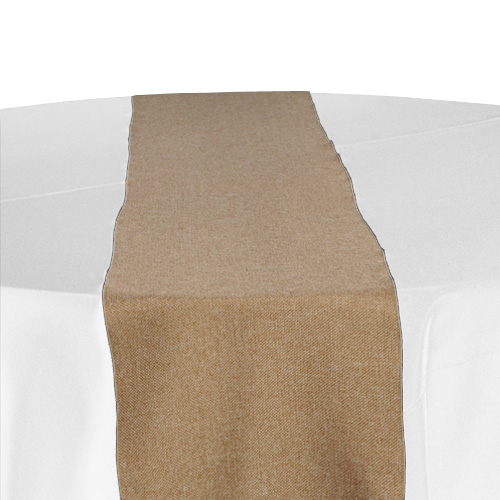 Burlap Table Runner Rental - Faux Faux Burlap Table Runner Rental