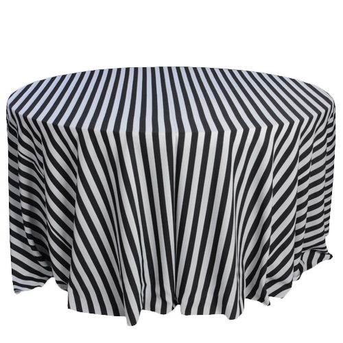 Black And White Stripe Tablecloth Rentals Polyester Stripe Tablecloth Rentals