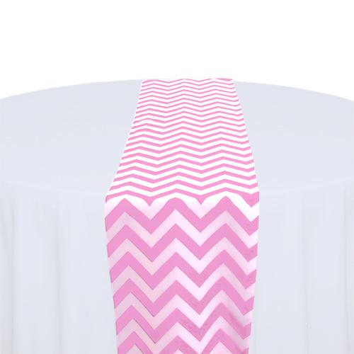 Pink & White Chevron Table Runner Rental Pink & White Chevron Table Runner Rental