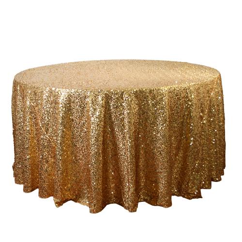 Gold  Sequin Tablecloth Rentals - Taffeta Gold  Sequin Tablecloth Rentals - Taffeta