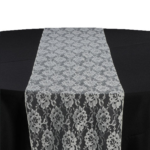Ivory Lace Table Runner Rental