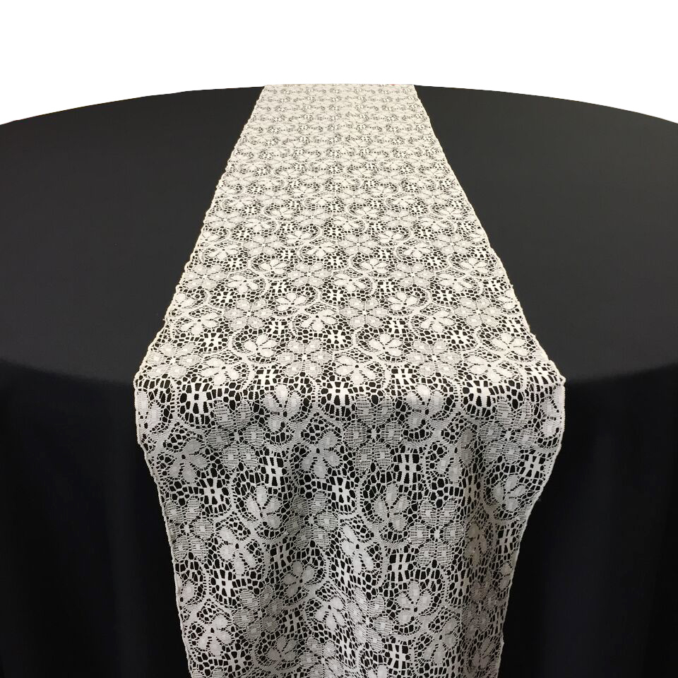 Ivory Doily Lace Table Runner Rental