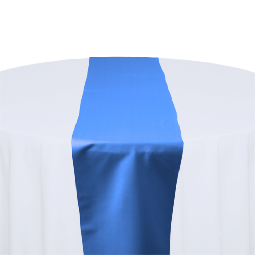 Cornflower Blue Matte Satin Table Runner Rental Cornflower Blue Matte Satin Table Runner Rental