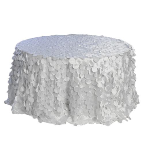 White Petal Taffeta Tablecloth Rentals White Petal Taffeta Tablecloth Rentals