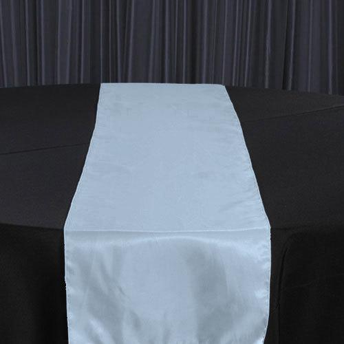 Light Blue Organza Satin Table Runner Rental