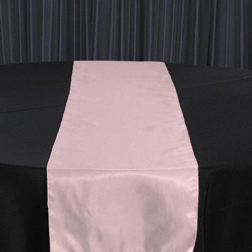 Pink Organza Satin Table Runner Rental Pink Organza Satin Table Runner Rental