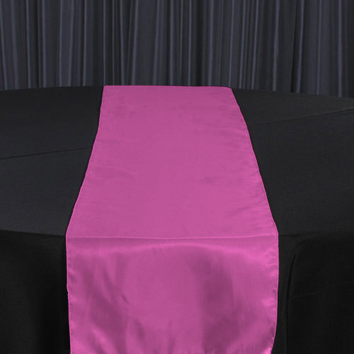 Fuchsia Dark Organza Satin Table Runner Rental Fuchsia Dark Organza Satin Table Runner Rental