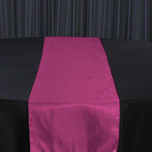 Fuchsia Organza Satin Table Runner Rental Fuchsia Organza Satin Table Runner Rental