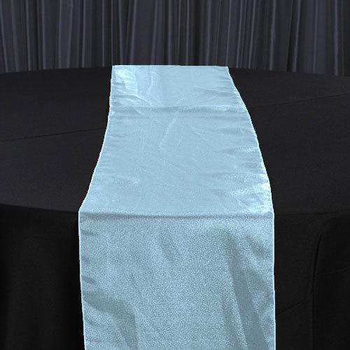 Tiffany Blue Organza Sheer Table Runner Rental