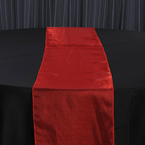 Red Organza Sheer Table Runner Rental