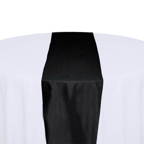 Black Taffeta Table Runner Rental Black Taffeta Table Runner Rental