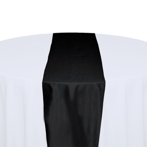 Black Taffeta Table Runner Rental