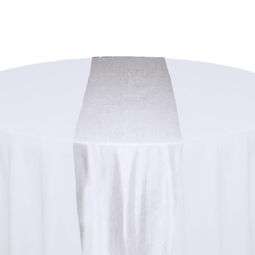 White Taffeta Table Runner Rental White Taffeta Table Runner Rental