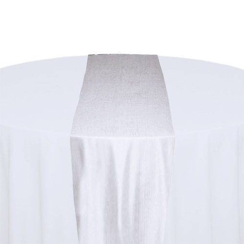 White Taffeta Table Runner Rental