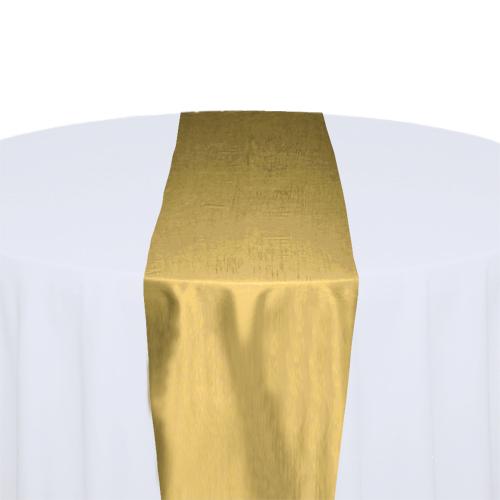 Canary Taffeta Table Runner Rental