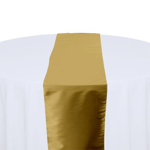 Gold Taffeta Table Runner Rental Gold Taffeta Table Runner Rental